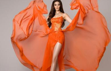 Cận cảnh trang phục lộng lẫy Hoa hậu Khánh Vân thi bán kết Miss Universe